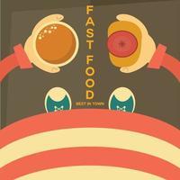 Fast Food Poster Vector Art