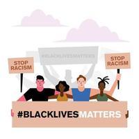 Demostración de la materia de las vidas negras vector