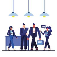 Teamwork concept with businesspeople vector