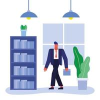 Businessman in the office vector