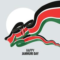 Kenya independence day or happy jamhuri day concept Vector Illustration
