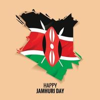 Día de la independencia de Kenia o feliz día de Jamhuri concepto ilustración vectorial vector