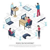 ilustración de internet de las cosas vector