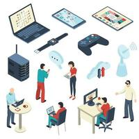 isometric internet of things set vector