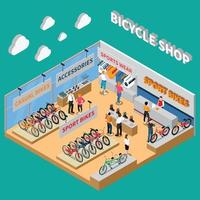 bicycle isometric composition vector