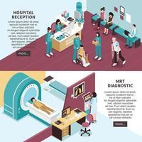 isometric hospital banners vector