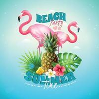 realistic pineapple tropics illustration vector