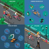 bicycle isometric 2x2 vector