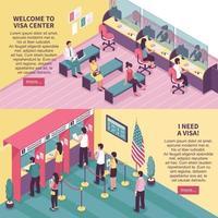 banners del centro de visas vector