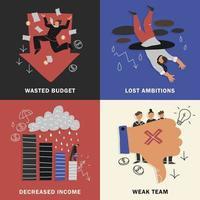 failure business design concept vector