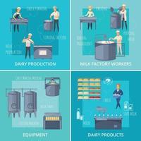 diary production cartoon 2x2 vector