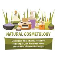 composición de cosmetología natural vector