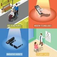 Isometric blind people 2x2 vector