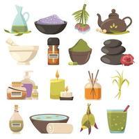 Natural cosmetology icons set vector