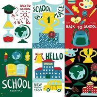 school posters banners vector