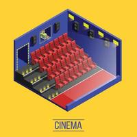 Isometric movie shooting background vector