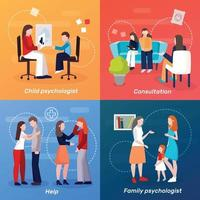 psychologist counseling people 2x2 vector