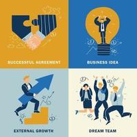 concepto de diseño empresarial de éxito vector