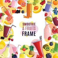 smoothie frame background vector