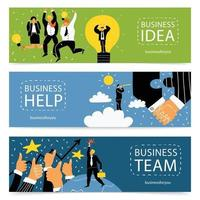 success business banners vector
