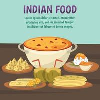 Indian food background vector