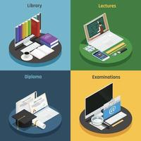 e-learning isometric 2x2 vector
