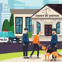 lawyer law justice orthogonal flat vector