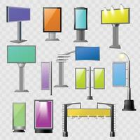 Street advertisement colored elements vector