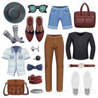 men accessories set vector