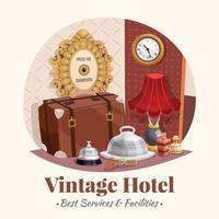 ilustración de hotel vintage vector