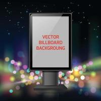 Street advertisement vertical banner vector
