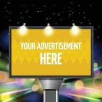 Street advertisement city background vector
