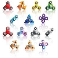 juguetes giratorios de mano set 2 vector