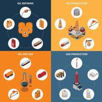 oil petroleum gas industry isometric 2x2 vector