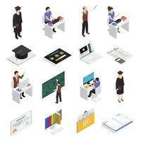 e-learning isometric icons vector