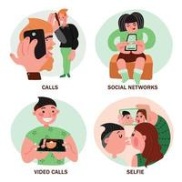 mobile phone people design concept vector
