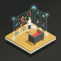 augmented reality isometric composition vector