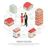 isometric real estate agency vector