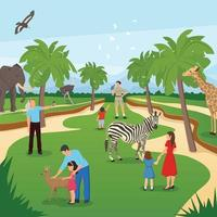 zoo flat composition vector