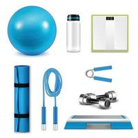fitness set realista vector