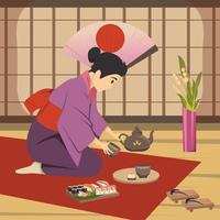 Japan culture background vector