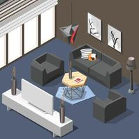 Futuristic and hi-tech isometric background vector