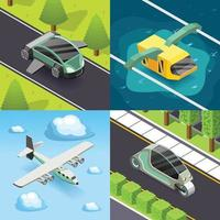 Future transport isometric 2x2 vector
