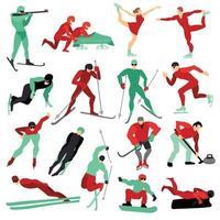 winter sports set vector