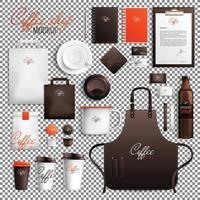 maqueta de diseño de cafetería vector