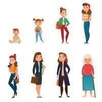 woman's life cycle vector