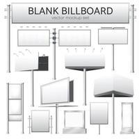 blank billboard mockup for advertisement vector