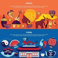 banner de países de viaje vector