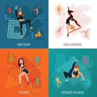 modern types dance concept vector