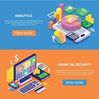Financial secure isometric vector